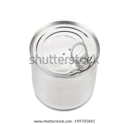 Food Tin Can Lid - stock photo