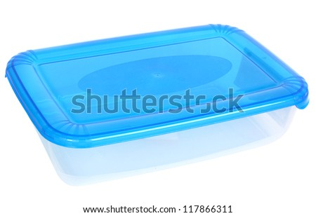 Food transparent box isolated - stock photo