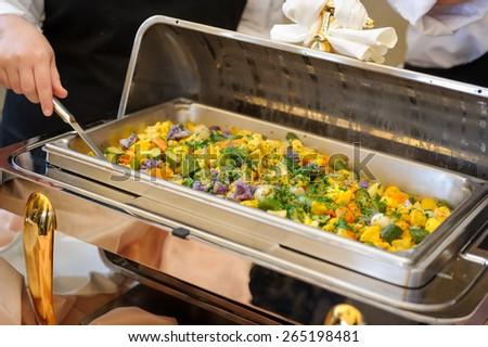 Food tray vegetables - stock photo