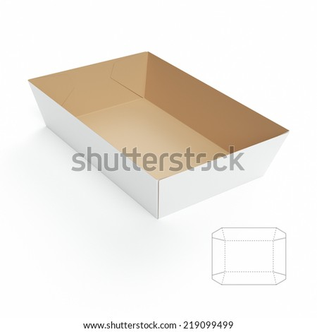 Food tray stock photos images pictures shutterstock for Paper food tray template