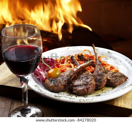 Food Wine - stock photo