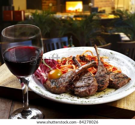 Food Wine - stock photo