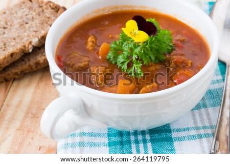 food with meat - stock photo