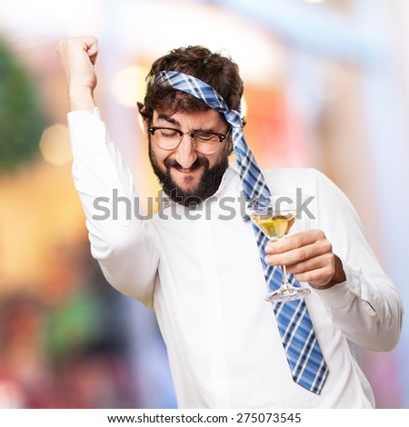 fool man in a party - stock photo