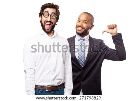 fool man joking - stock photo