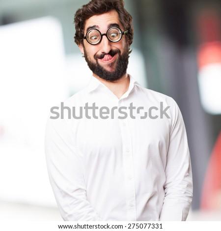 fool man joking - stock photo