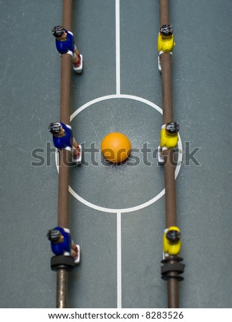 foosball game top view - stock photo