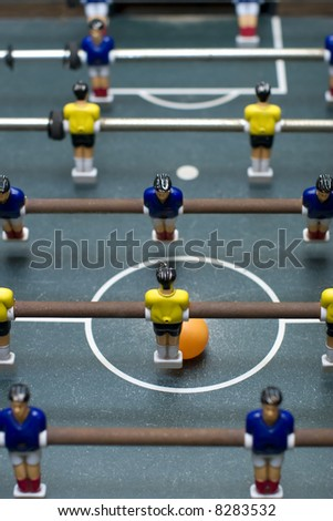 foosball game vertical format - stock photo