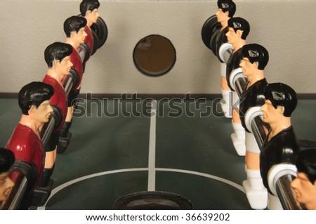 Foosball lineup - stock photo