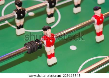 foosball  table. - stock photo