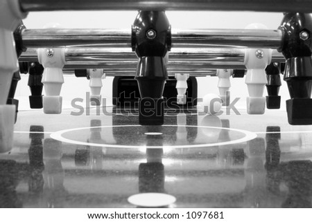 Foosball Table - from the balls point of view - stock photo