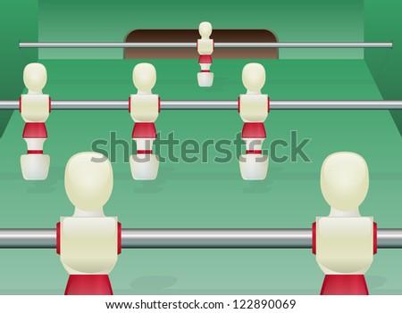 Foosball Table Soccer - stock photo
