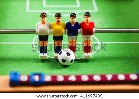 foosball table soccer football players - stock photo