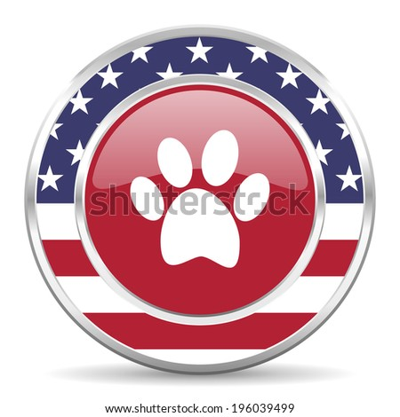 foot american icon, usa flag - stock photo