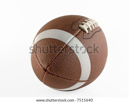 Foot Ball with soft shadow - stock photo