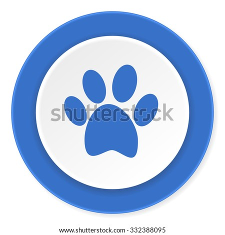 foot blue circle 3d modern design flat icon on white background  - stock photo