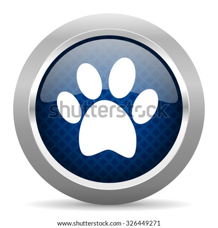 foot blue circle glossy web icon on white background, round button for internet and mobile app - stock photo