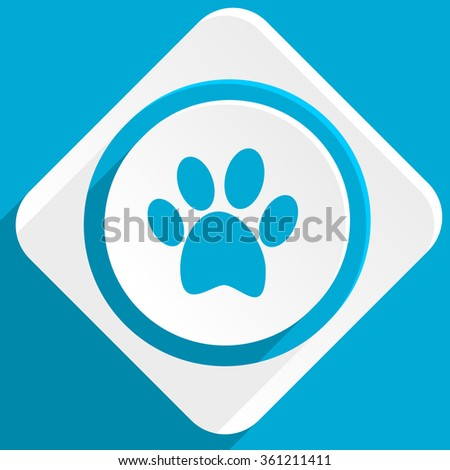 foot blue flat design modern icon for web and mobile app - stock photo