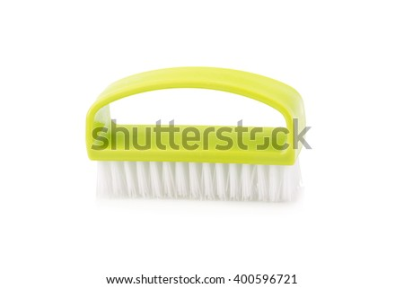 Foot brush isolated on white background. - stock photo