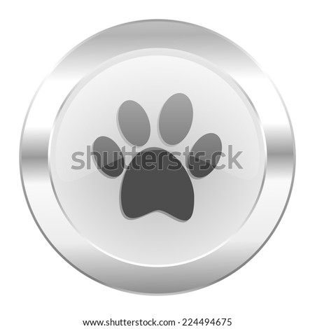 foot chrome web icon isolated  - stock photo