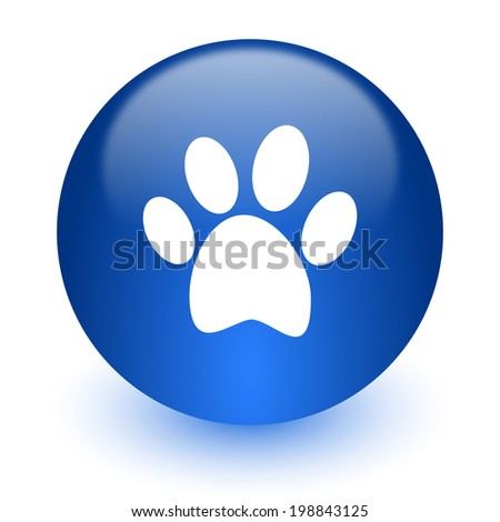 foot computer icon on white background - stock photo