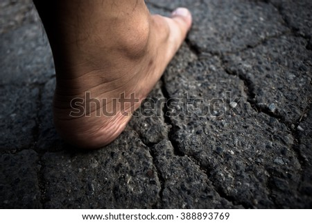 foot cree ground asphalt