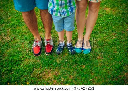 Foot Family - stock photo