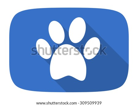 foot flat design modern icon with long shadow for web and mobile app - stock photo