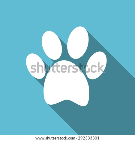 foot flat icon  original modern design flat icon for web and mobile app with long shadow  - stock photo