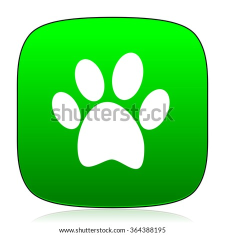 foot green icon - stock photo