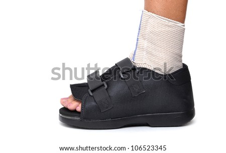 foot in soft cast - stock photo