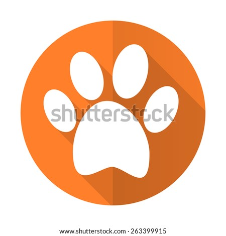 foot orange flat icon   - stock photo
