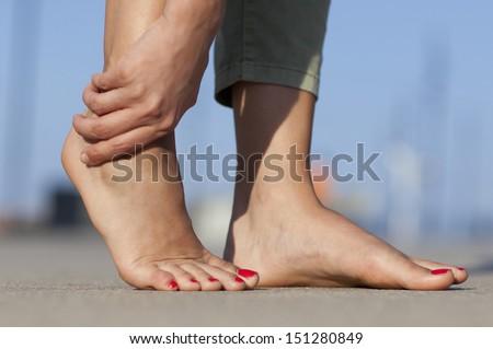 foot pain - stock photo