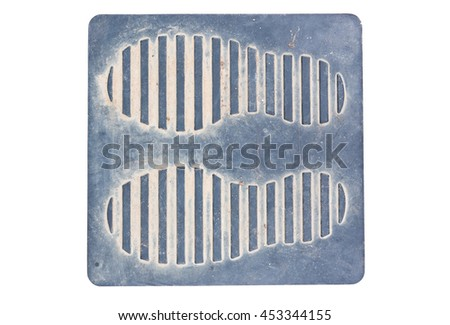 foot print on plastic plate - stock photo