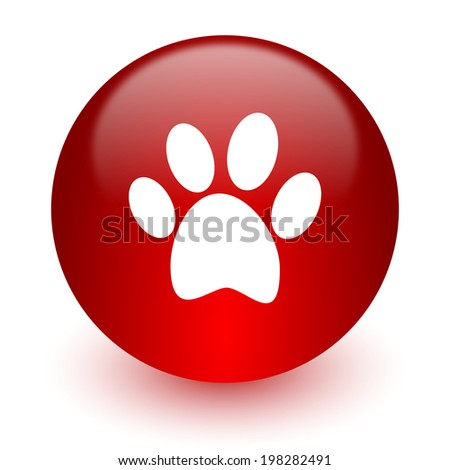 foot red computer icon on white background - stock photo