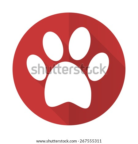 foot red flat icon   - stock photo
