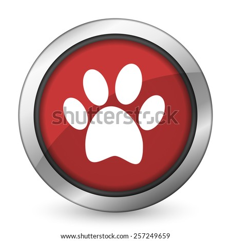 foot red icon   - stock photo