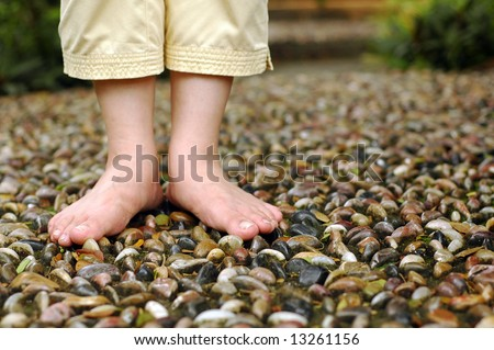 Foot reflexology - stock photo