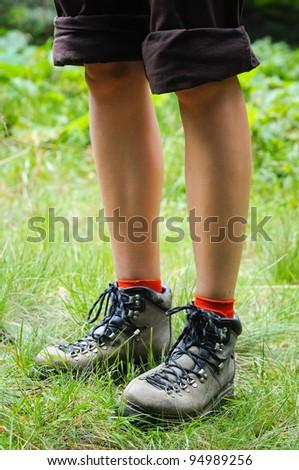 foot traveler - stock photo
