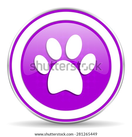 foot violet icon 