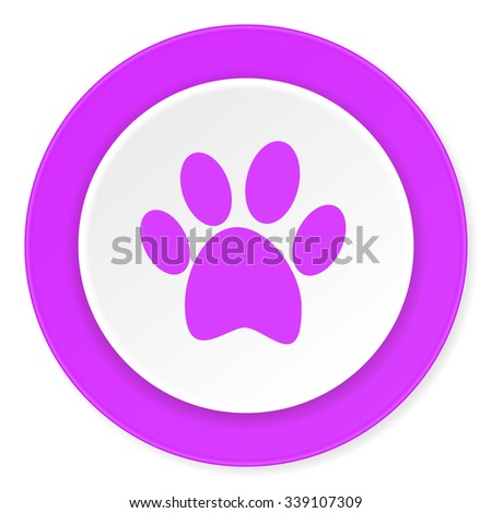 foot violet pink circle 3d modern flat design icon on white background  - stock photo