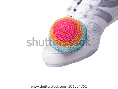 Footbag. - stock photo