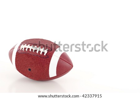 Football a lot  of Copyspace  - Isolated on white background - stock photo
