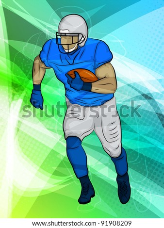 Football/Abstract Sports/Runningback in action - stock photo