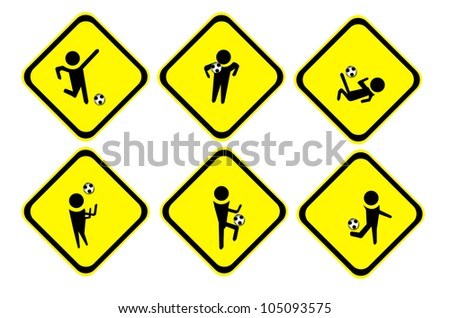 Football action sign - stock photo