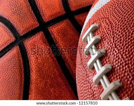 Football and basketball - stock photo