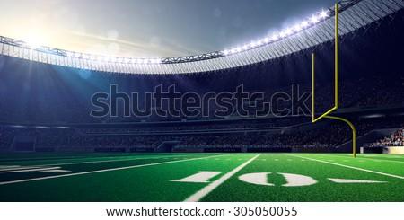 Football Arena Stadium Day render blue - stock photo