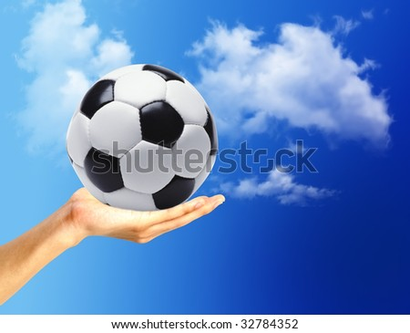 football ball in the hand
