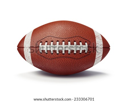 football ball isolated on a white background - stock photo