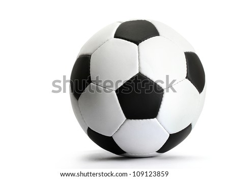 football ball, isolated on white - stock photo